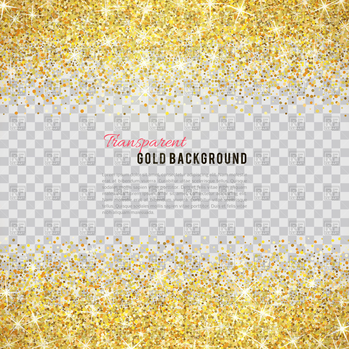 Gold glitter background Vector Image #112357.