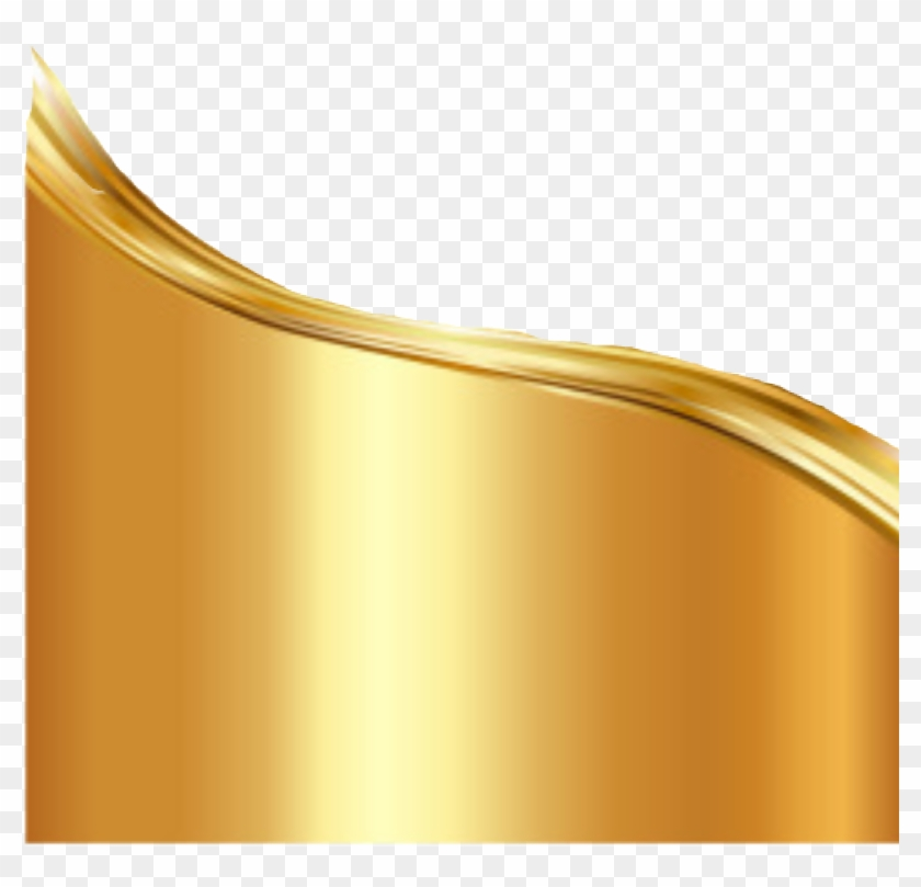 Gold Wave Png.