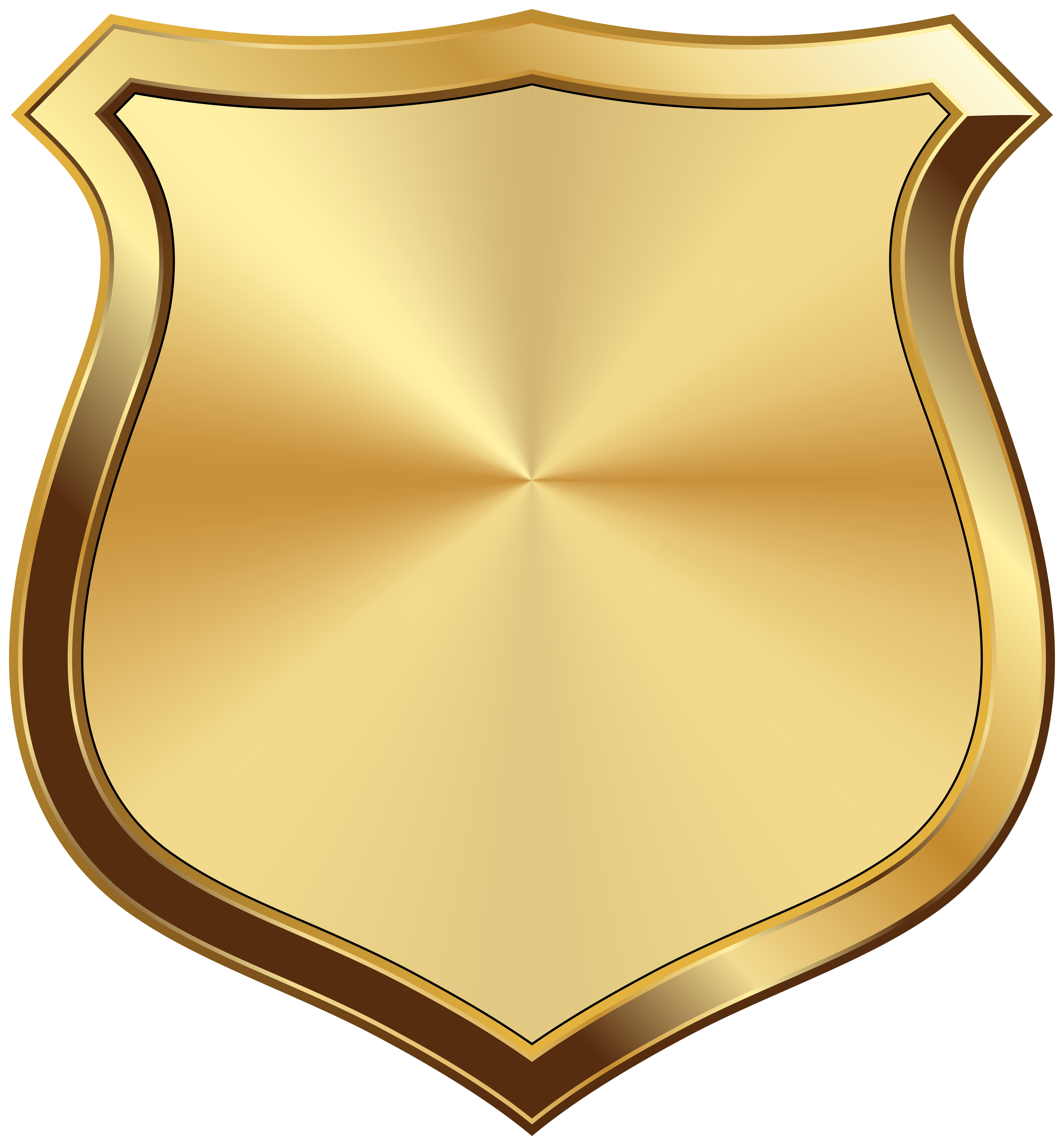 Gold Badge Transparent Image.