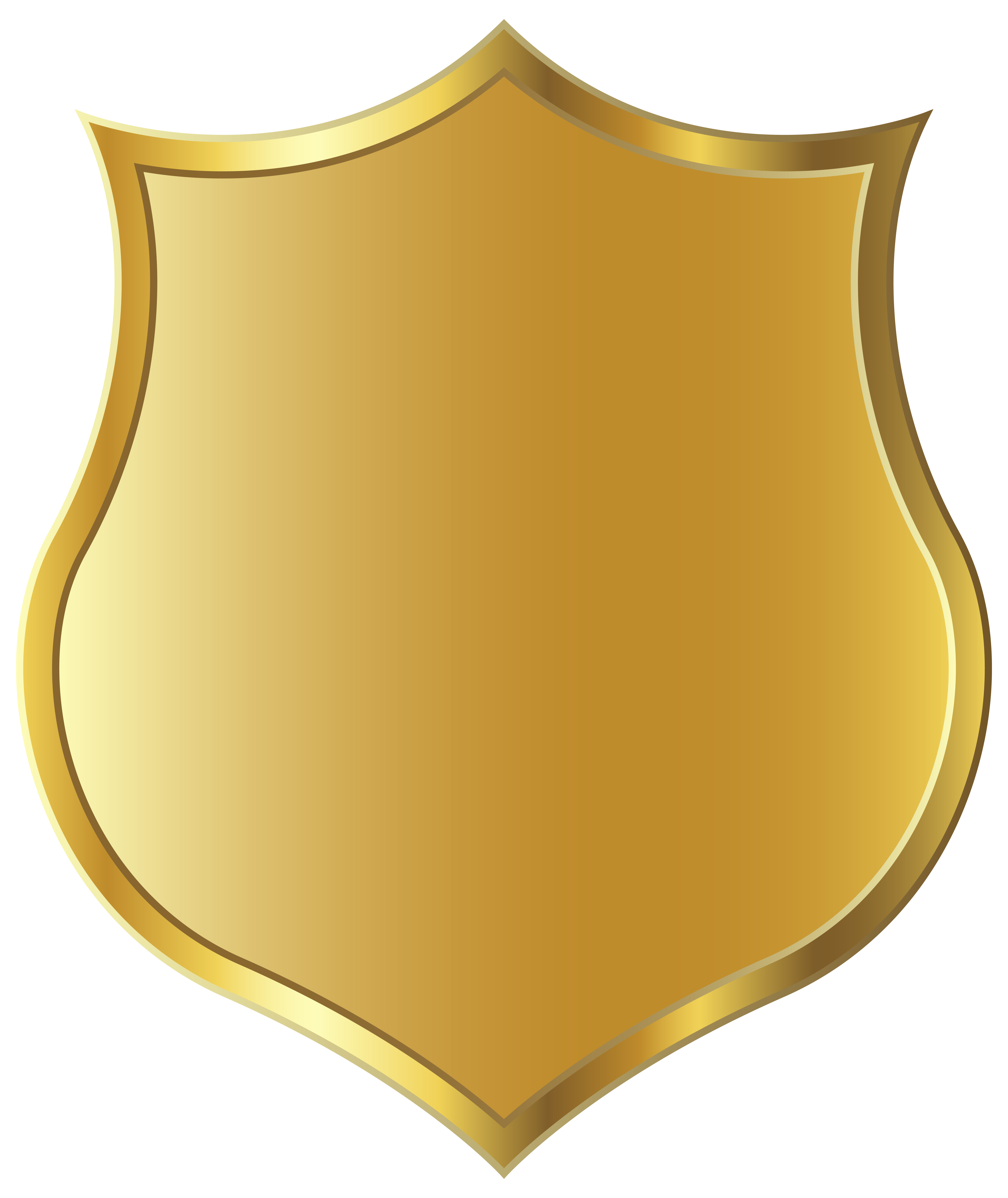 Gold Badge Template PNG Image.