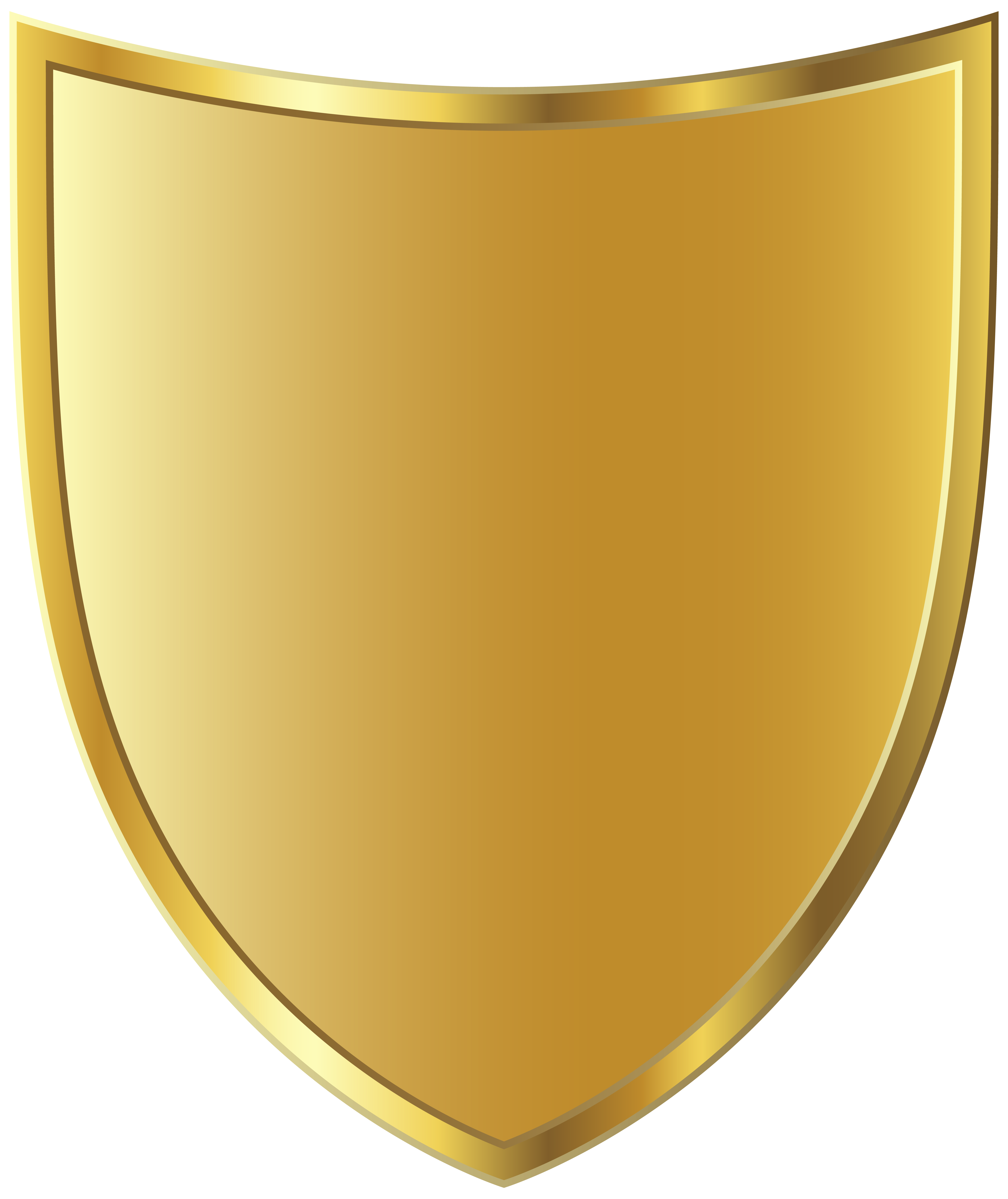 Golden Badge Template PNG Image.