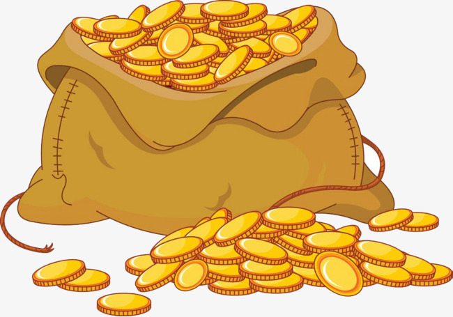 Bag of gold clipart 3 » Clipart Station.