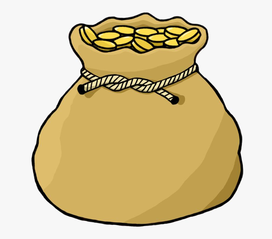 Gold Drawing Bag.