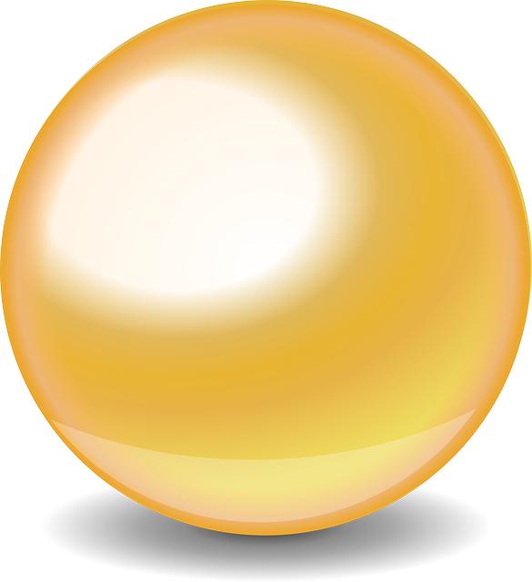 Gold glossy ball png #26216.