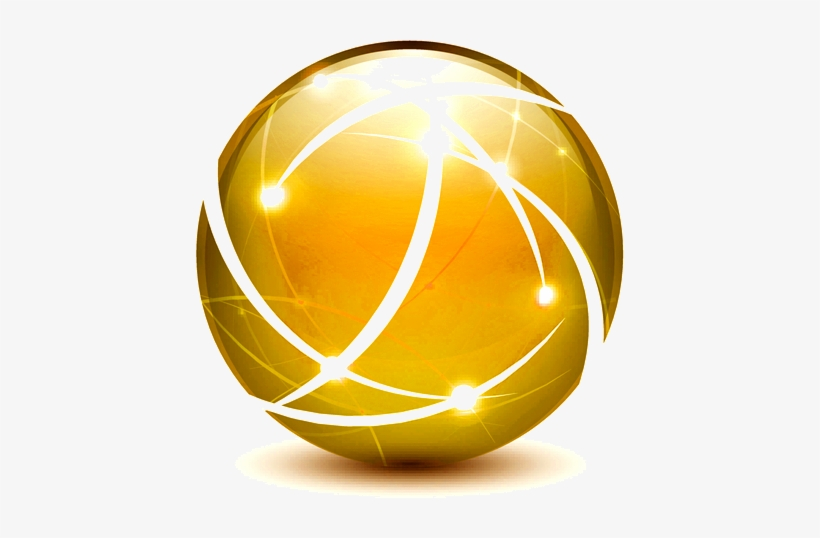 Soccer Ball Gold Png PNG Image.