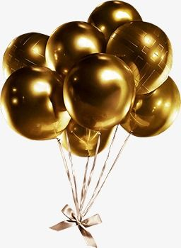 Gold Balloon, Balloon Clipart, Golden, Balloon PNG.