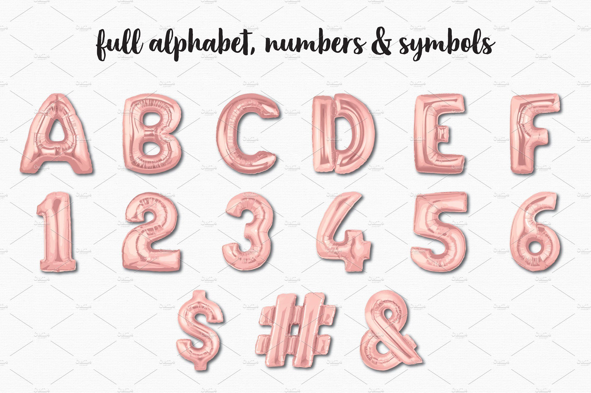 Rose Gold Foil Balloon Bundle #popular#super#numeric#alpha.