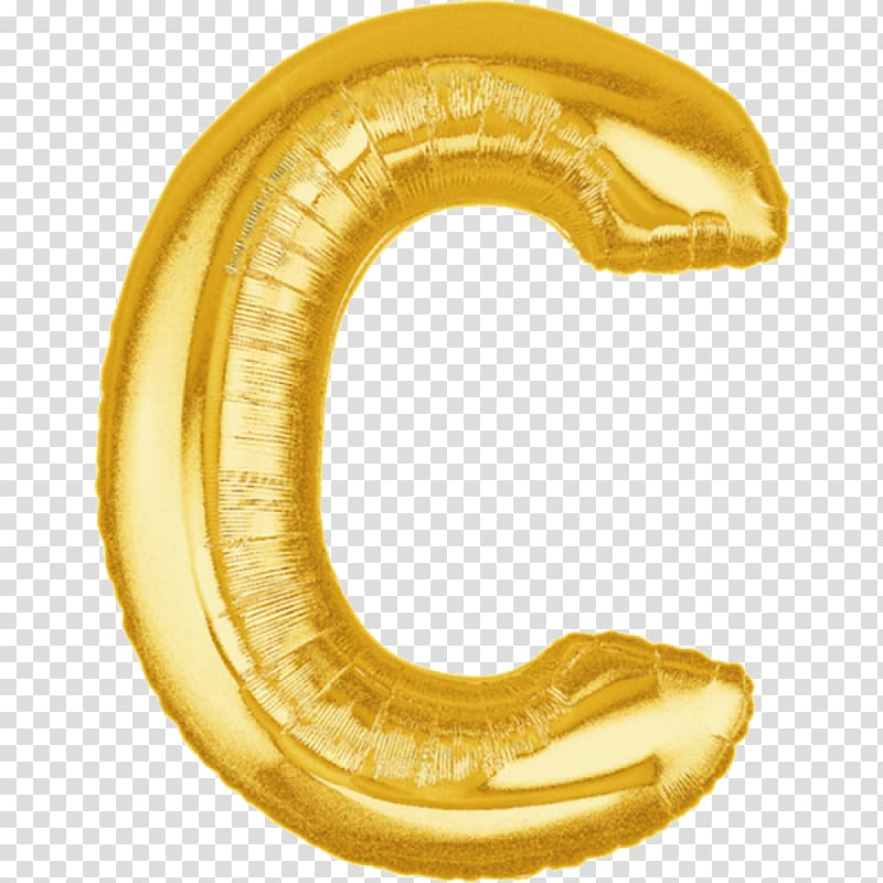 Mylar balloon Alphabet Gold Letter, balloon transparent.