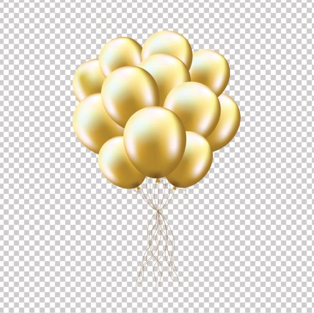 Best Gold Balloons Illustrations, Royalty.
