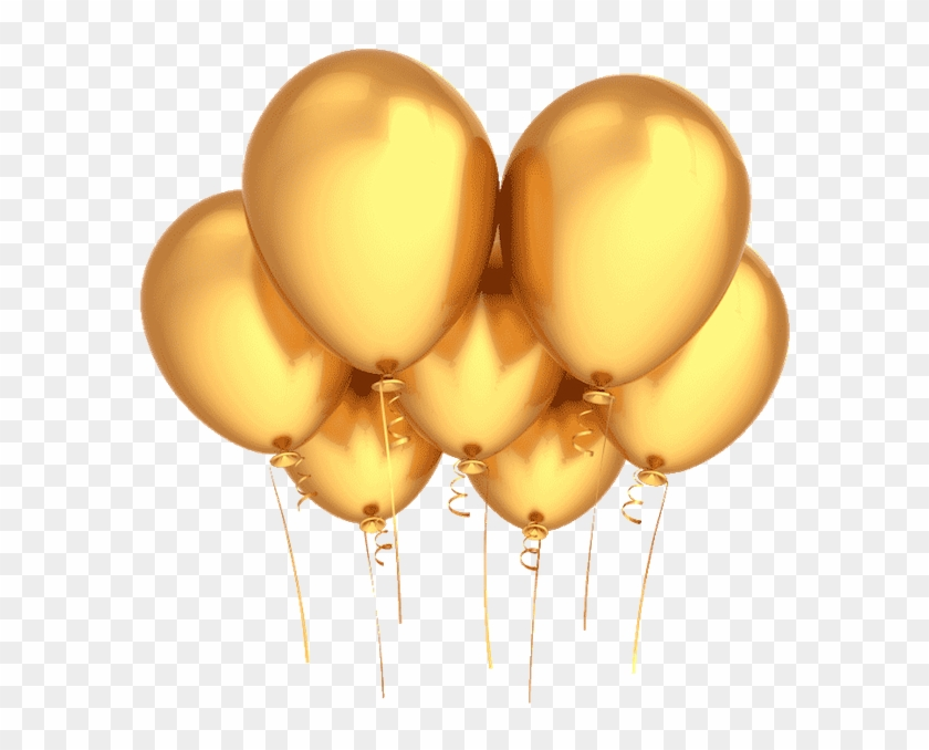 Birthday Wishes Gold Party Balloons.