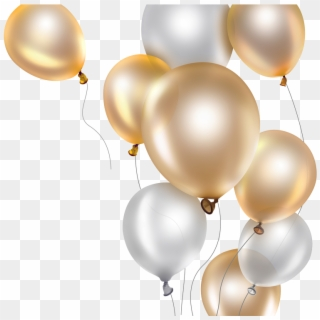 Free Gold Balloons PNG Images.