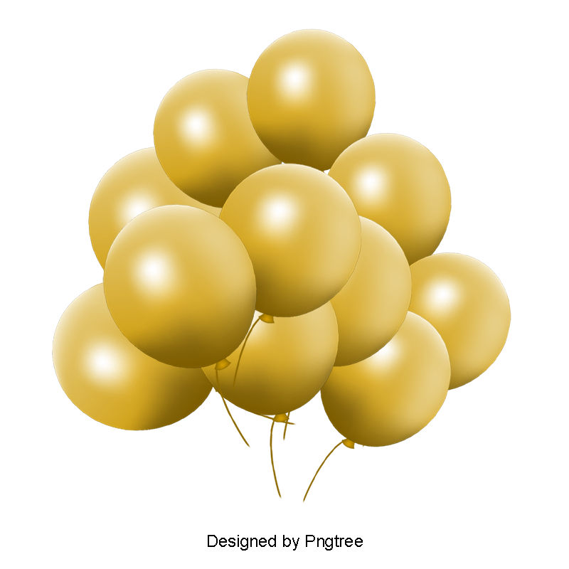 Gold Balloon PNG Images.