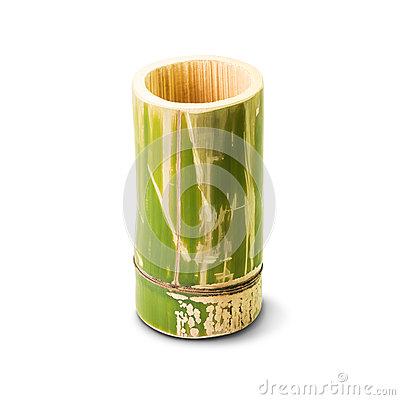 Bamboo Tube Container Bamboo Tube Stock Photo.