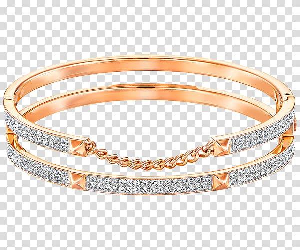 Earring Swarovski AG Bangle Bracelet Gold plating, Swarovski.