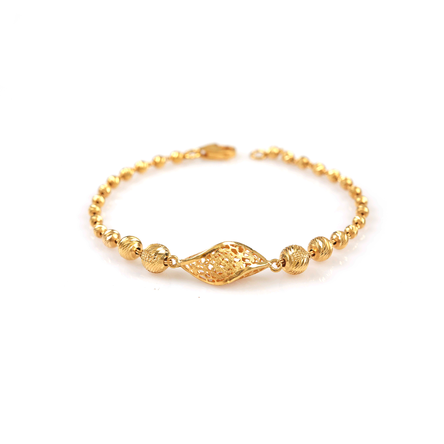 Twisted Bead Gold Bracelet.