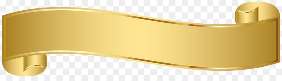 Gold Banner png download.