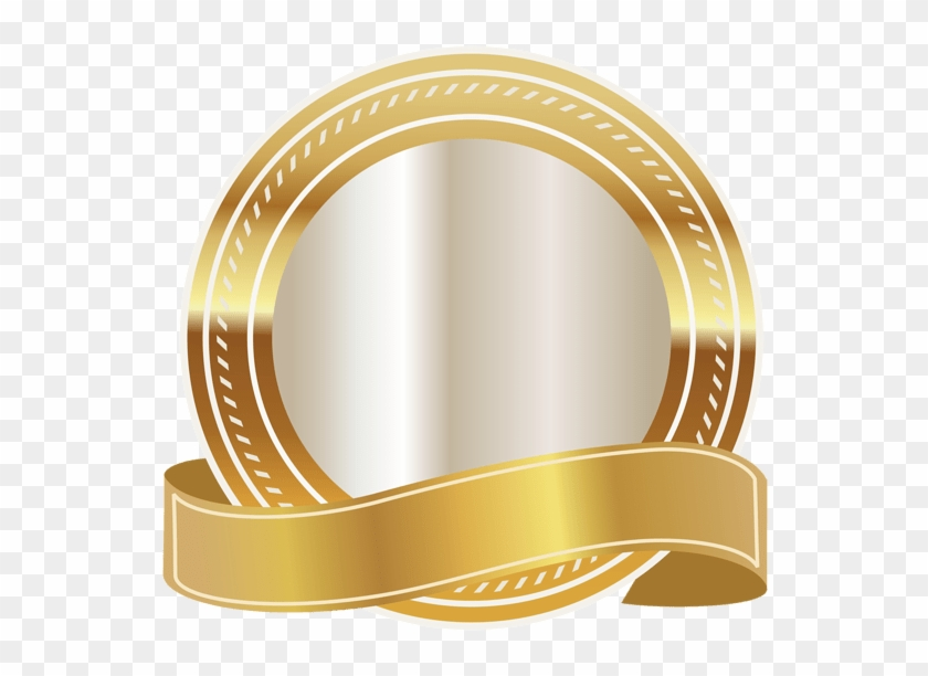 Gold Seal With Gold Ribbon Png Clipart Image Daniel.