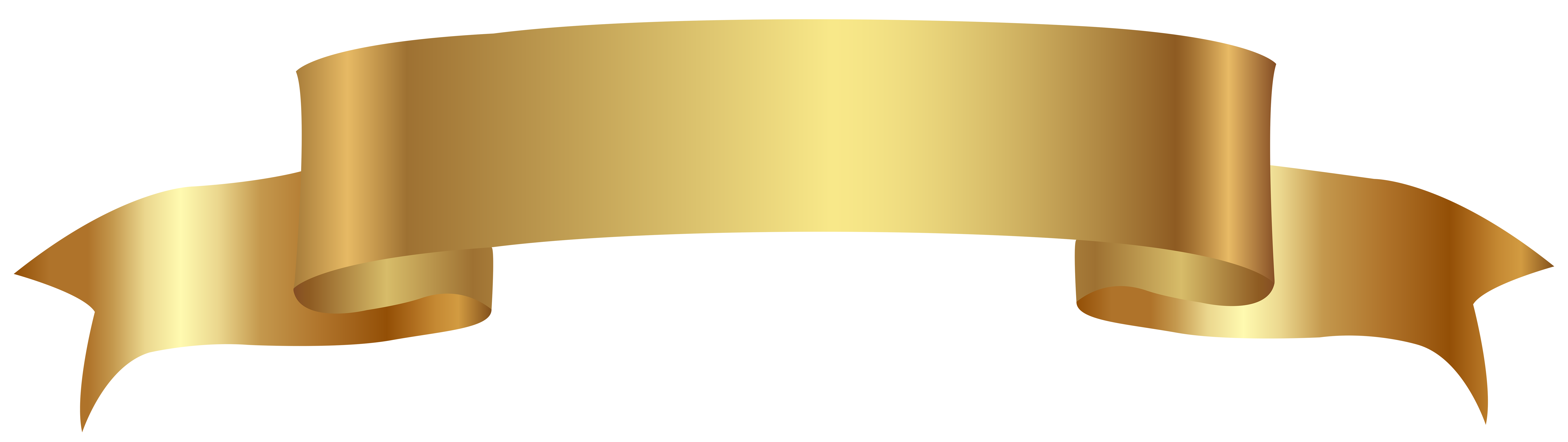 Gold Banner Transparent PNG Image.