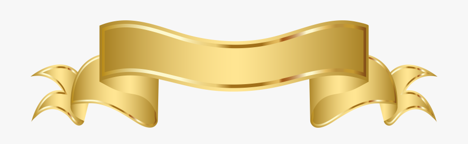 Gold Banner Clipart Png Image.