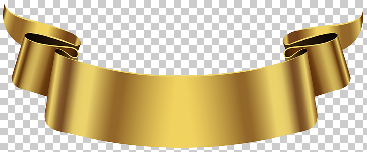 Banner , Golden Banner Transparent , gold ribbon graphic art.