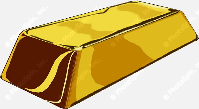 Gallery For > Single Gold Bar Clipart.