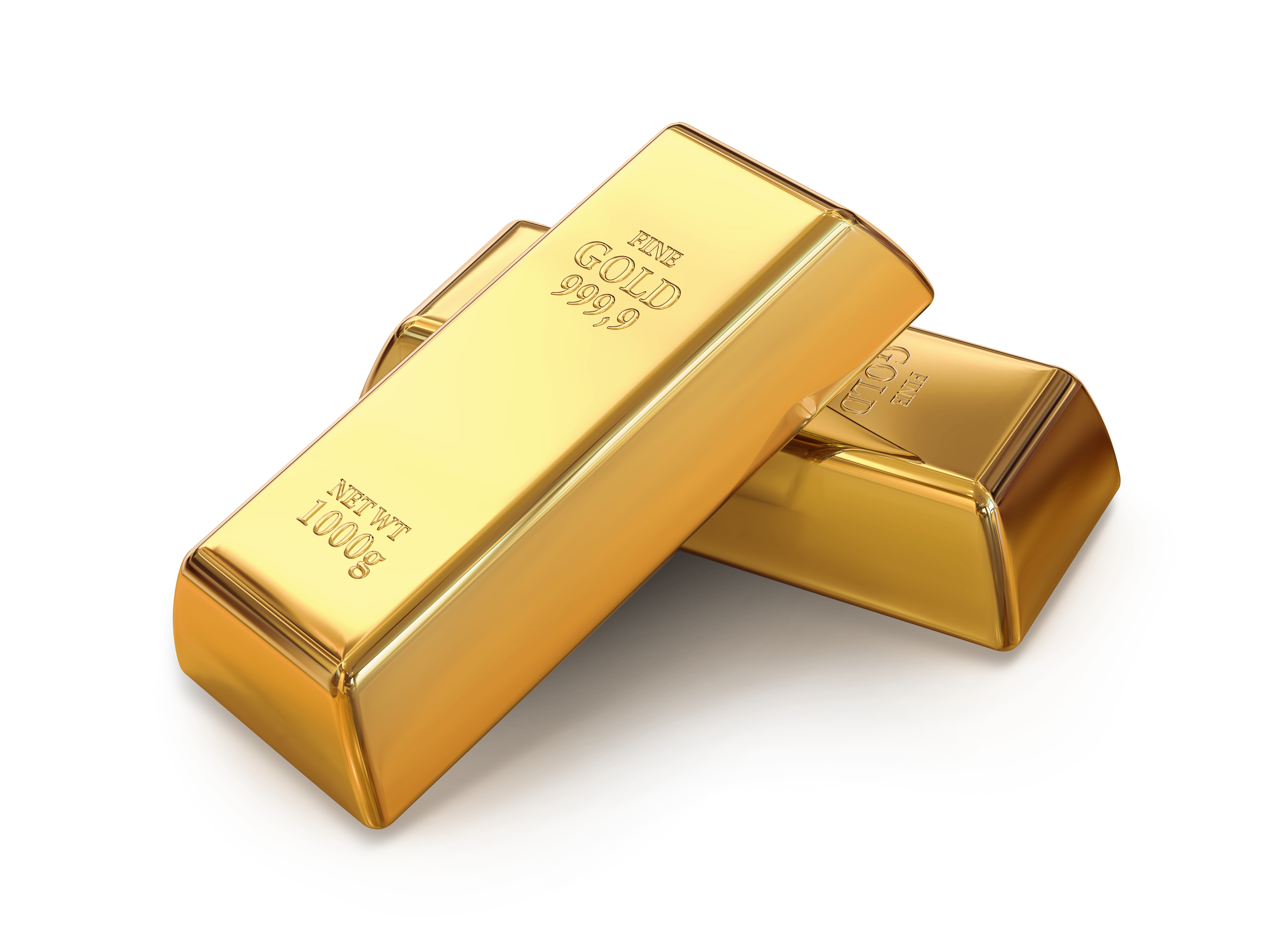 Two Gold Bars PNG Image.