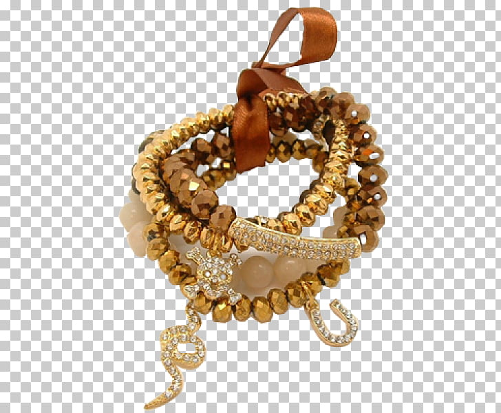 Bracelet Bead, gold beads PNG clipart.