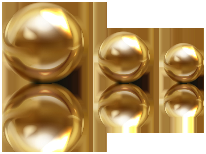 Golden Beads PNG Clipart.