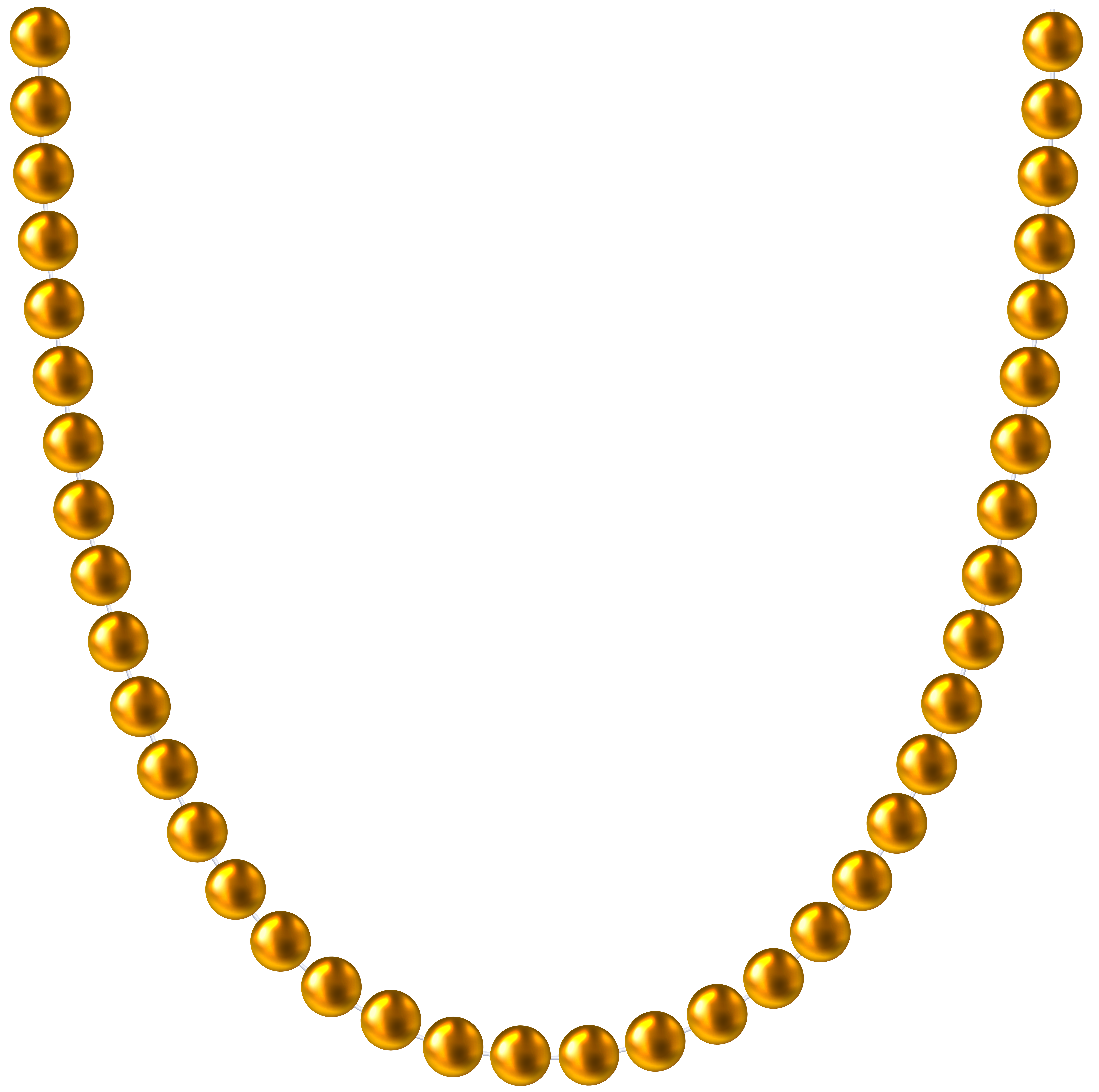 Gold Beads PNG Clip Art Image.