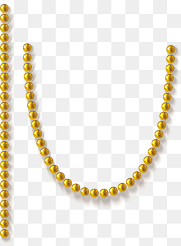 Gold Beads PNG Images.