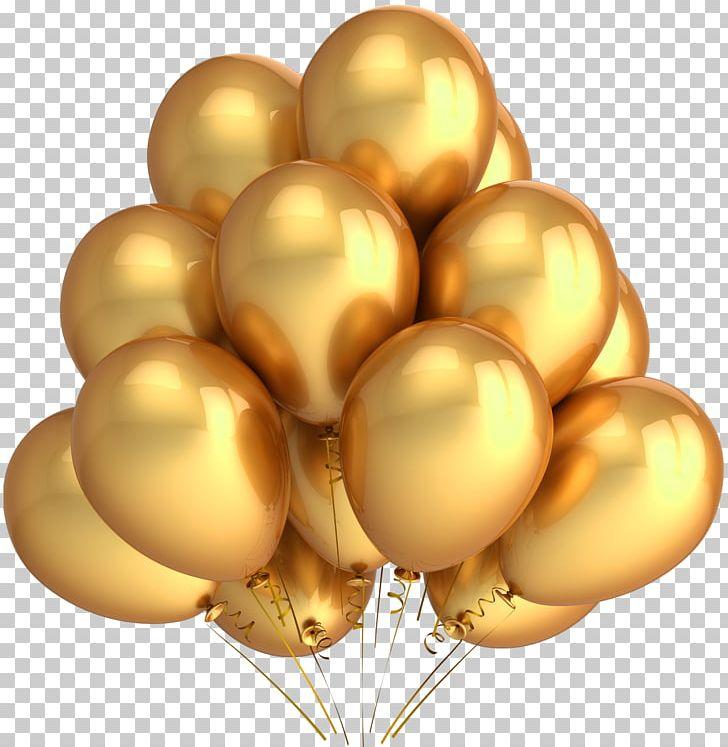 Gas Balloon Gold Birthday PNG, Clipart, Balloon, Balloon Release.