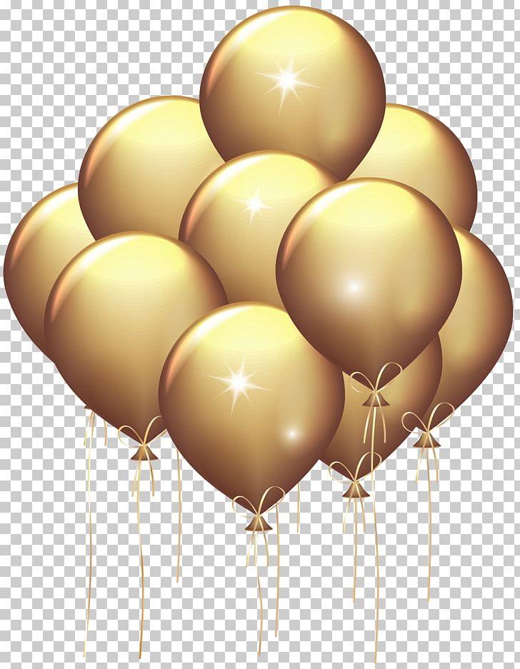 Balloon Gold Birthday PNG, Clipart, Balloon, Balloons, Birthday.