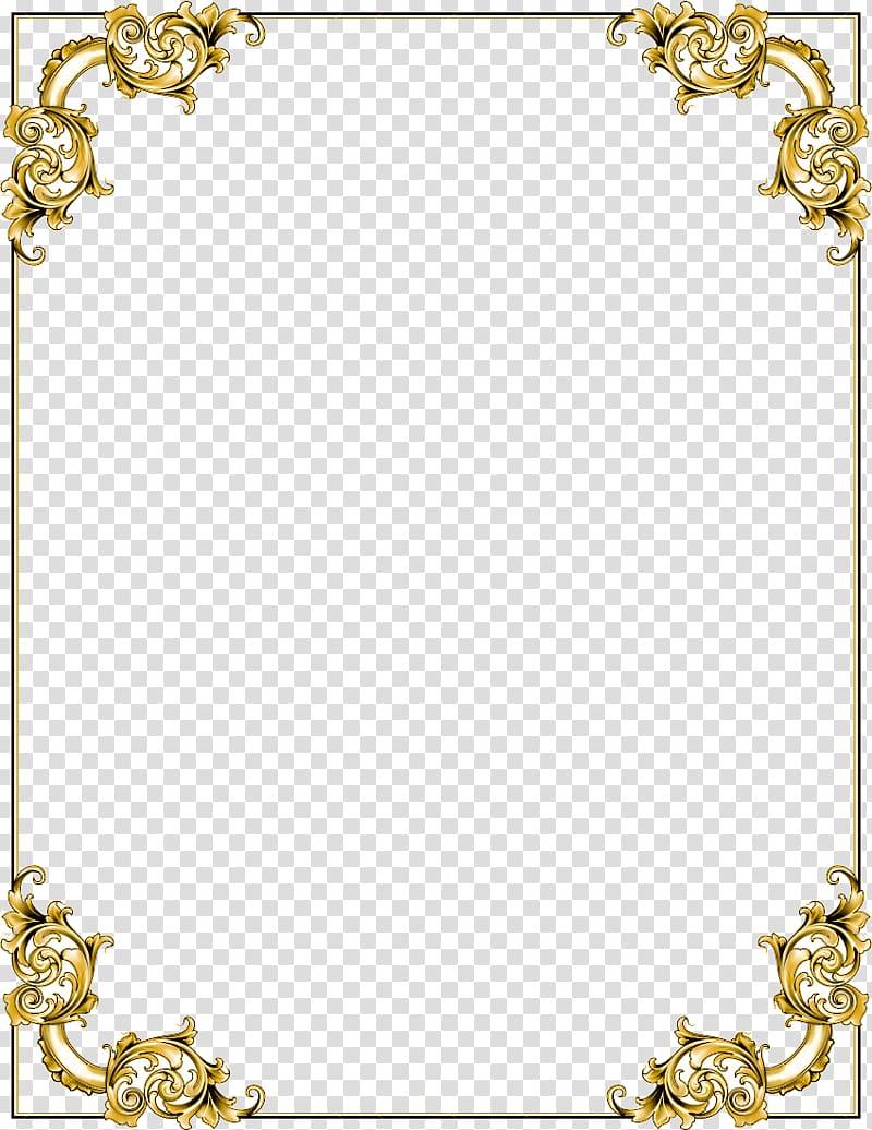 Gold floral boarder illustration, frame , Gold Border Frame.