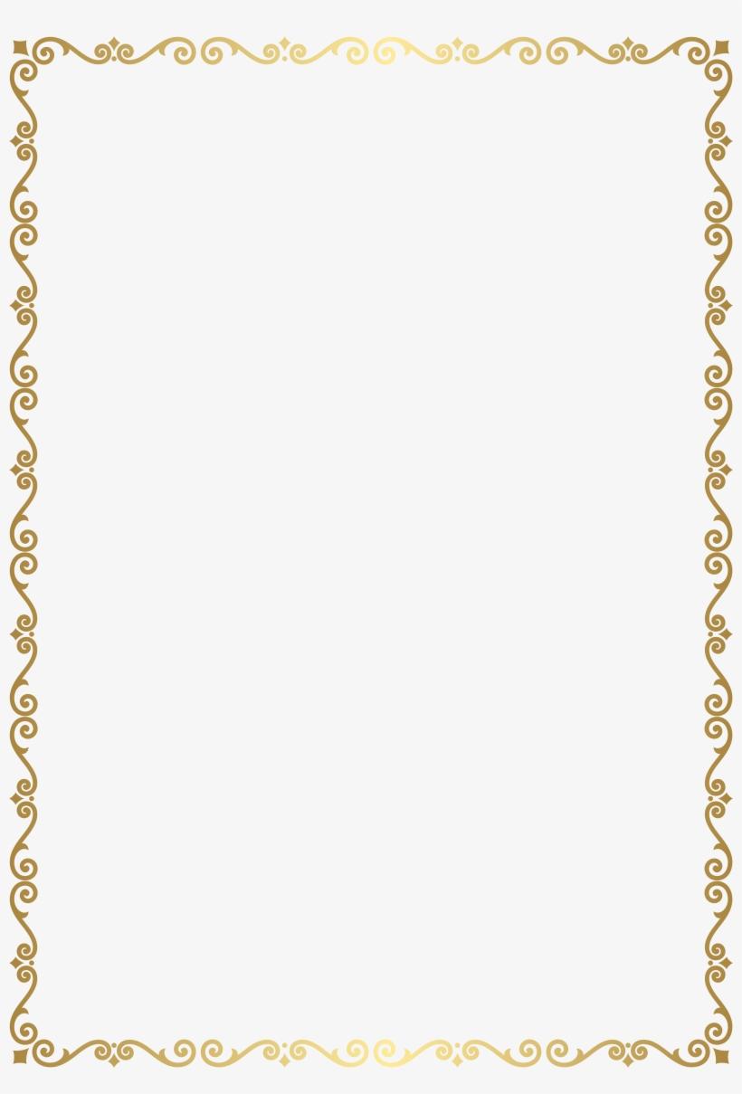 Border Frame Golden Transparent Clip Art Image Gallery.