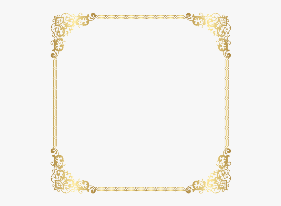 Gold Border Frame Transparent Background Clipart ,.