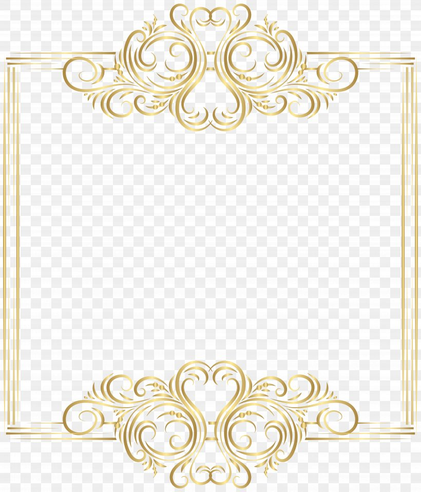 Gold Clip Art, PNG, 6853x8000px, Borders And Frames, Area.