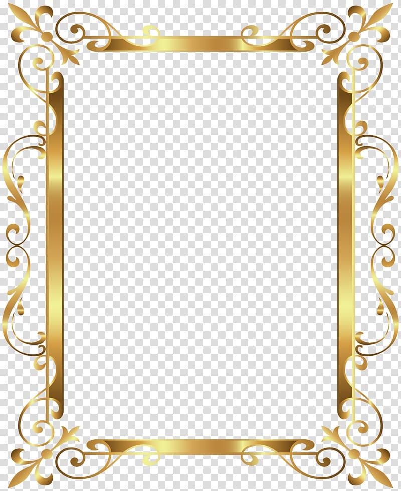 Gold frame , Gold Border Frame Deco , gold frame transparent.