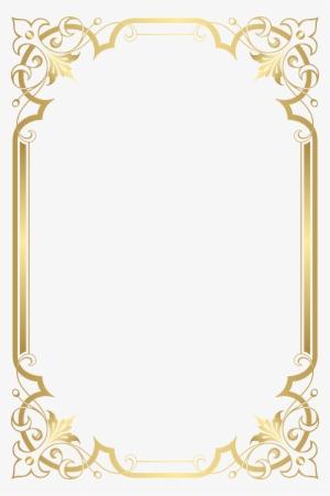 Gold Frame Border PNG, Transparent Gold Frame Border PNG Image Free.