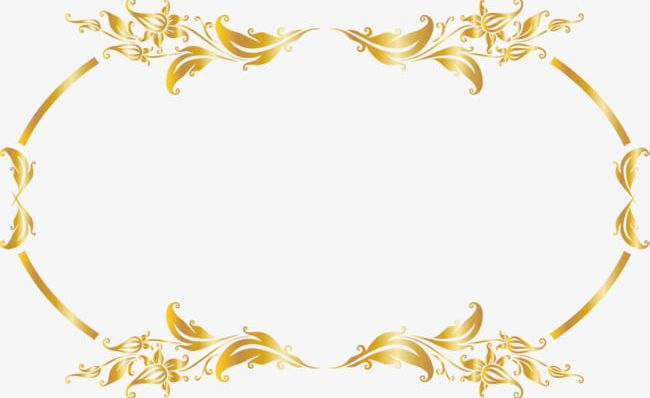 Luxury Gold Border PNG, Clipart, Beautiful, Border Clipart, Cane.