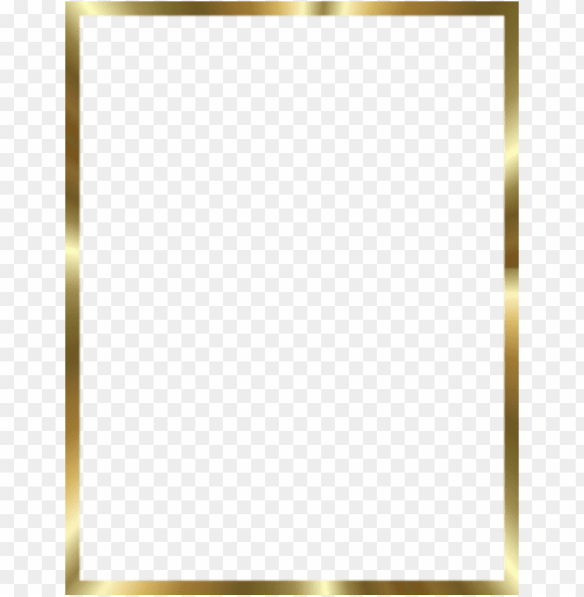 3d gold border png PNG image with transparent background.