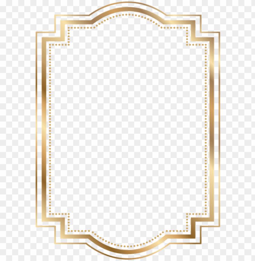 border frame gold transparent clip art borders and.