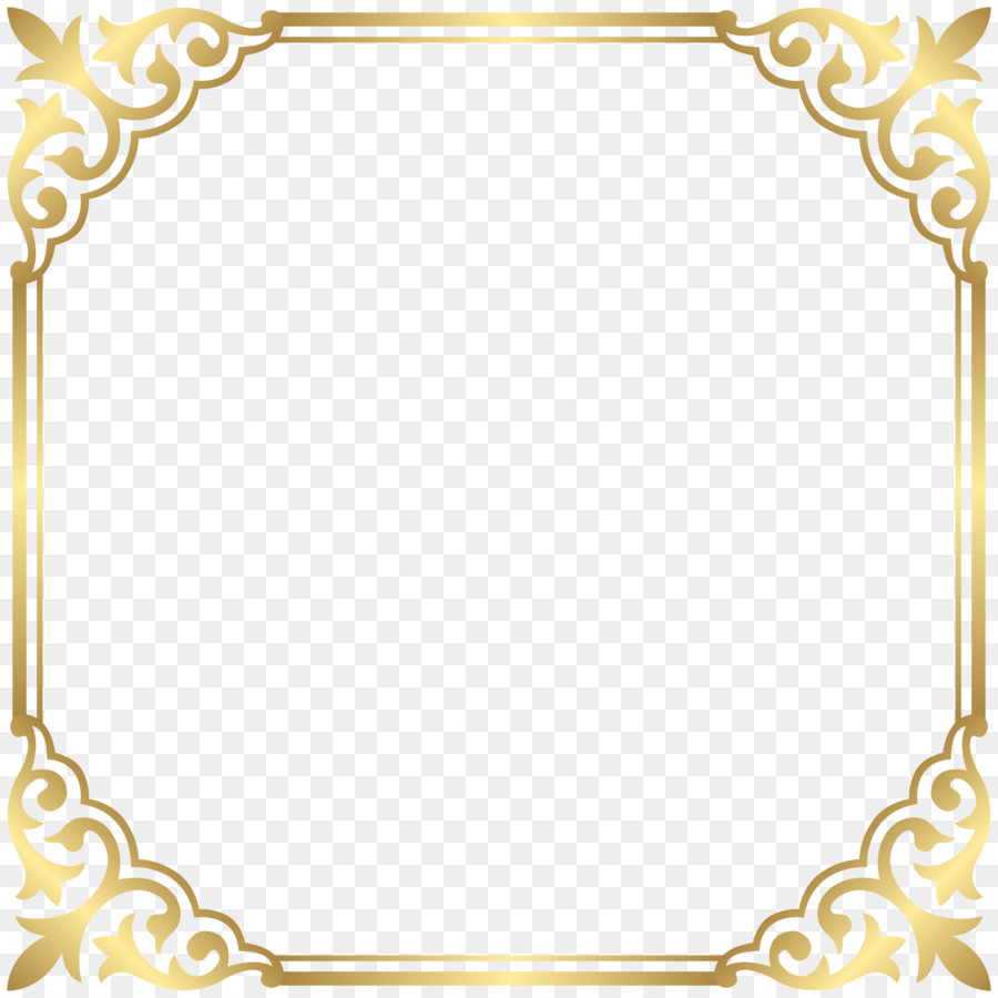 Gold Picture Frames png download.