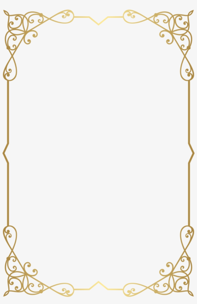 Fancy Gold Borders Png PNG Image.
