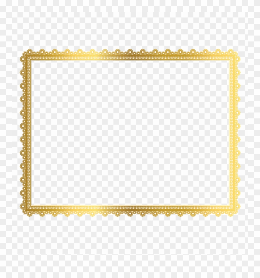 Gold Border Frame Png Free Images Toppng.