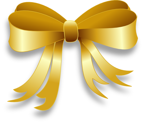 Free Gold Bow Transparent Background, Download Free Clip Art.