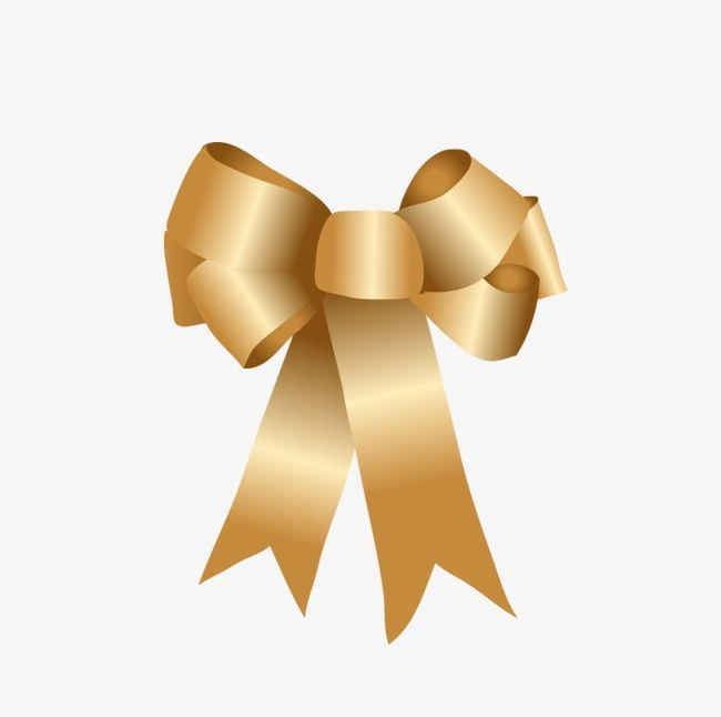 Golden Bow PNG, Clipart, Bow, Bow Clipart, Gold, Golden.
