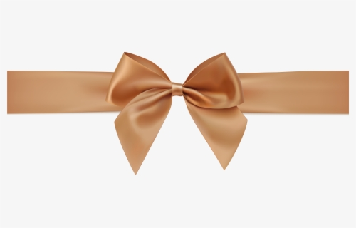 Free Gold Bow Clip Art with No Background.