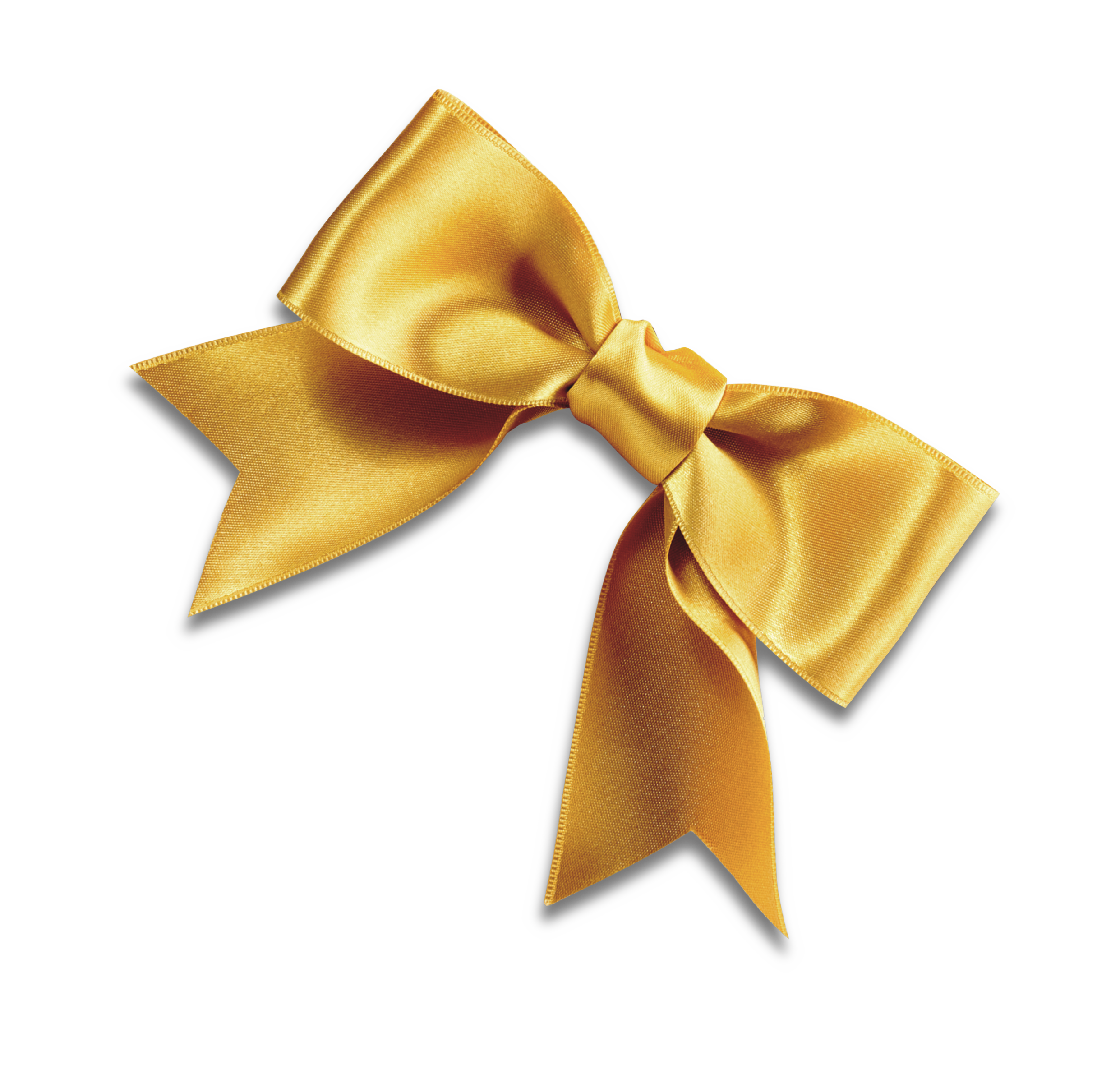Bow tie Yellow Ribbon Shoelace knot.
