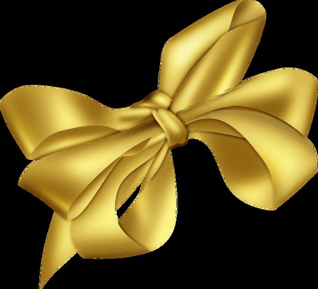 Ribbon Gold Bow tie Clip art.