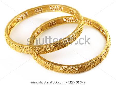 Gold Bracelet Stock Images, Royalty.